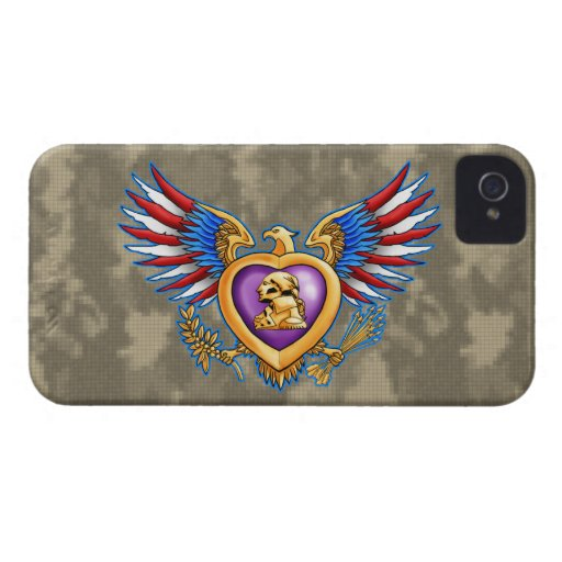 Purple Heart design iPhone 4 Case-Mate Cases