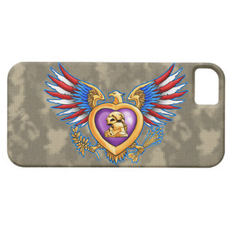 Purple Heart design Case For The iPhone 5