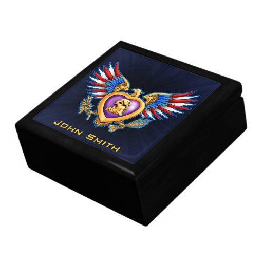 Purple Heart Design Gift Box