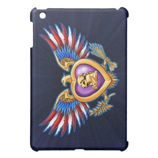 Purple Heart Design Case For The iPad Mini