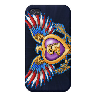 Purple Heart Design iPhone 4/4S Cover