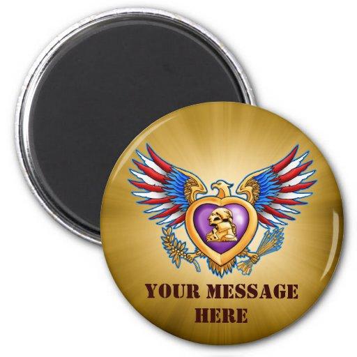 Purple Heart Design Magnet