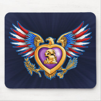 Purple Heart Design Mouse Pad