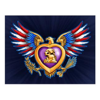 Purple Heart Design Postcard