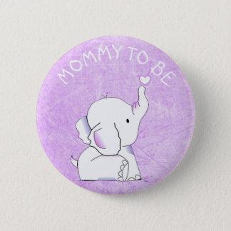 Purple Heart Elephant Baby Shower Pin