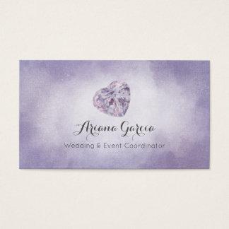 Purple Heart Gemstone Jewellery Business Card