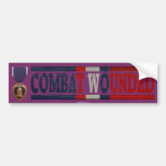 Purple Heart Kosovo Combat Wounded Bumper Sticker Car Bumper Sticker