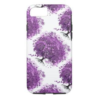 Purple Heart Leaf Tree Wedding iPhone 7 Case