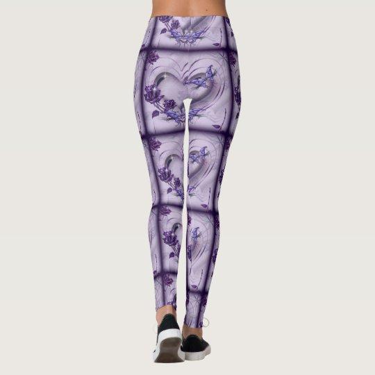 Purple heart leggings