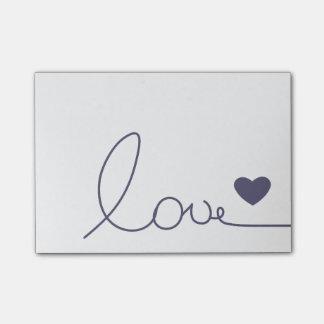 Purple Heart Love Post-it Notes
