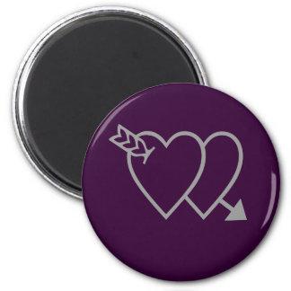 Purple Heart Magnet - Love Anniversary Wedding