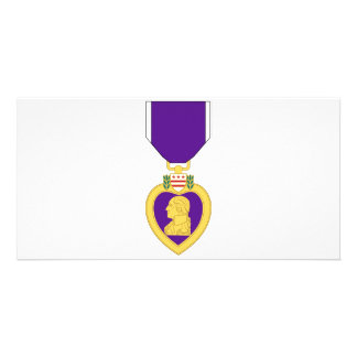Purple Heart Medal Custom Photo Card
