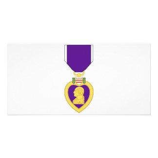 Purple Heart Medal Custom Photo Card