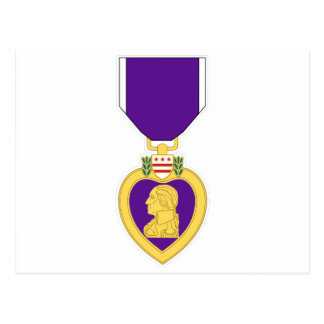 Purple Heart Medal Postcard