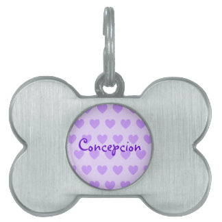 Purple Heart Pattern Pet Tag