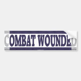 Purple Heart Ribbon Combat Wounded Bumper Sticker