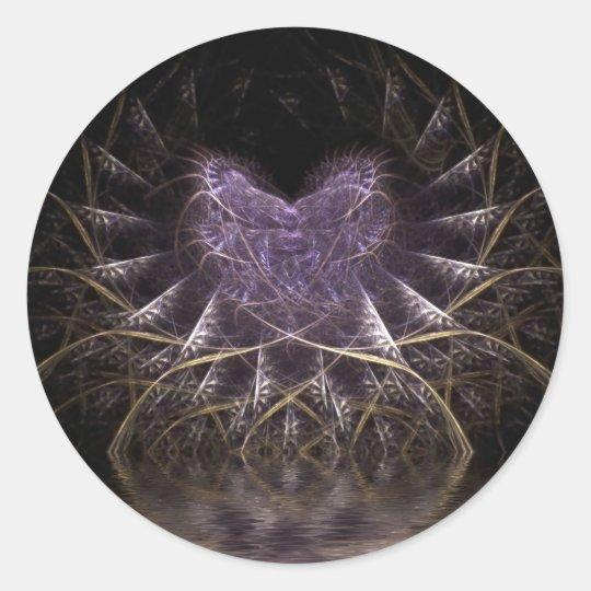 Purple Heart Round Stickers