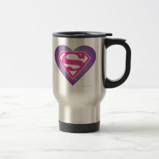 Purple Heart S-Shield 15 Oz Stainless Steel Travel Mug