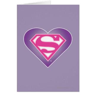 Purple Heart S-Shield Greeting Card