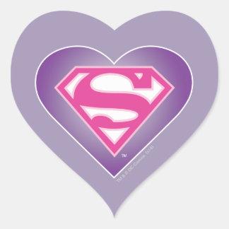 Purple Heart S-Shield Heart Stickers