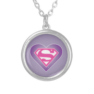 Purple Heart S-Shield Personalized Necklace