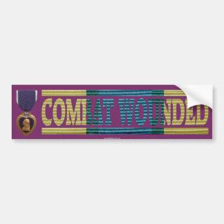 Purple Heart Somalia Combat Wounded Bumper Sticker