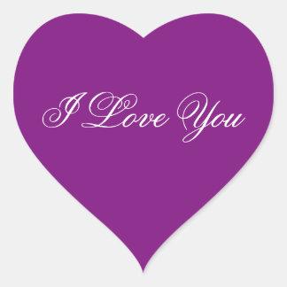 Purple Heart Sticker - I Love You