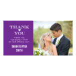 Purple Heart Wedding Photo Thank You Cards Photo Cards