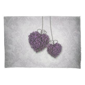 Purple Hearts (1 side) Pillowcase