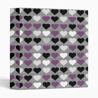 Purple Hearts Binder