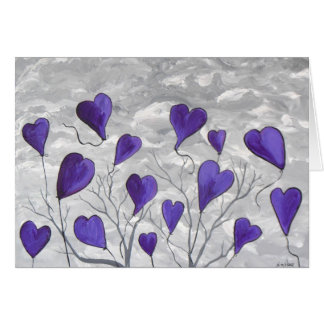 Purple Hearts Card