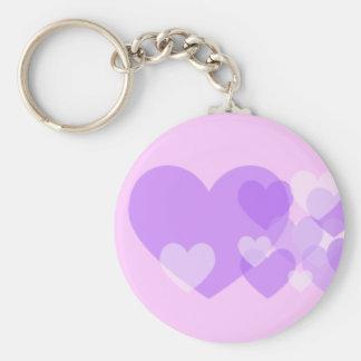 Purple Hearts Keychain