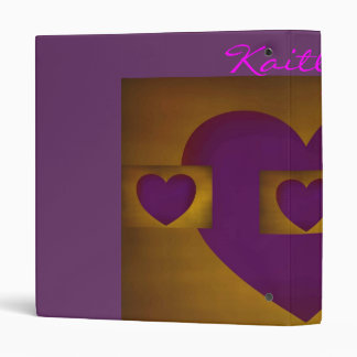 Purple Hearts on Gold Binders