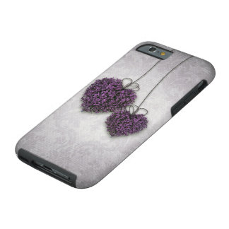 Purple Hearts Tough iPhone 6 Case
