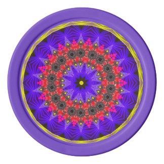 Purple Heaven Fractal Poker Chips