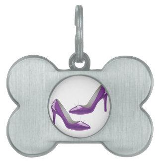 Purple Heels Pet ID Tags