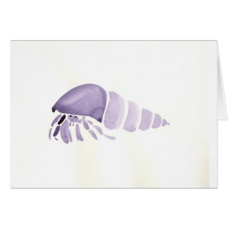 Purple Hermit Crab Card