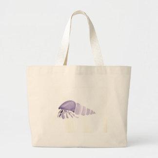 Purple Hermit Crab Large Tote Bag