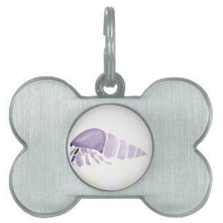 Purple Hermit Crab Pet Name Tag
