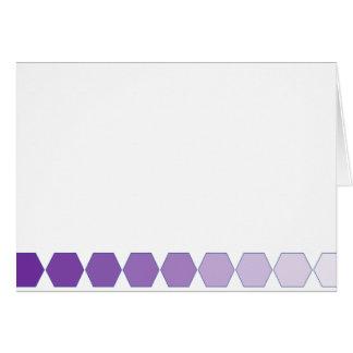 Purple Hexagon Fade Greeting Card