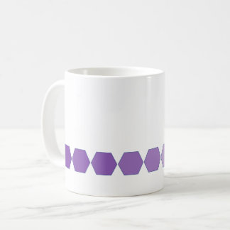 Purple hexagon fade on white mug