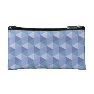 Purple Hexagons Cosmetic Bag