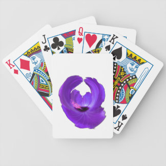 Purple Hibiscus Abstract Flower 201711h Bicycle Playing Cards