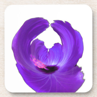 Purple Hibiscus Abstract Flower 201711h Coaster