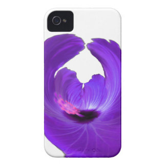 Purple Hibiscus Abstract Flower 201711h iPhone 4 Covers
