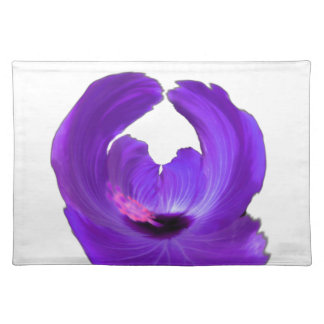 Purple Hibiscus Abstract Flower 201711h Placemat