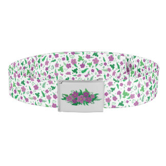 Purple Hibiscus Belt