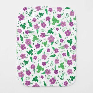 Purple Hibiscus Burp Cloth