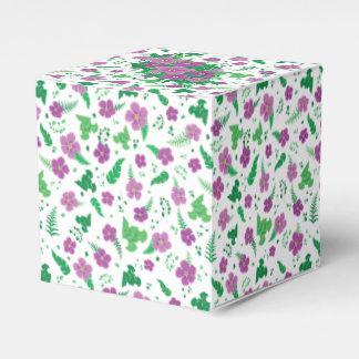 Purple Hibiscus Favor Box