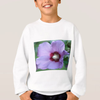 Purple hibiscus flower sweatshirt